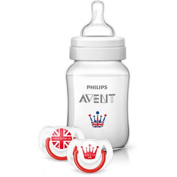 Philips Avent Royal Σετ Limited Edition Μπιμπερό & Πιπίλα 1m+ Χωρίς BPA - SCD783/31