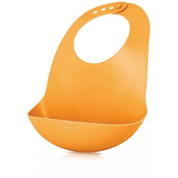 Philips Avent Σαλιάρα Προστατευτικό Ταίσματος 6m+ Πορτοκαλί - SCF736/00