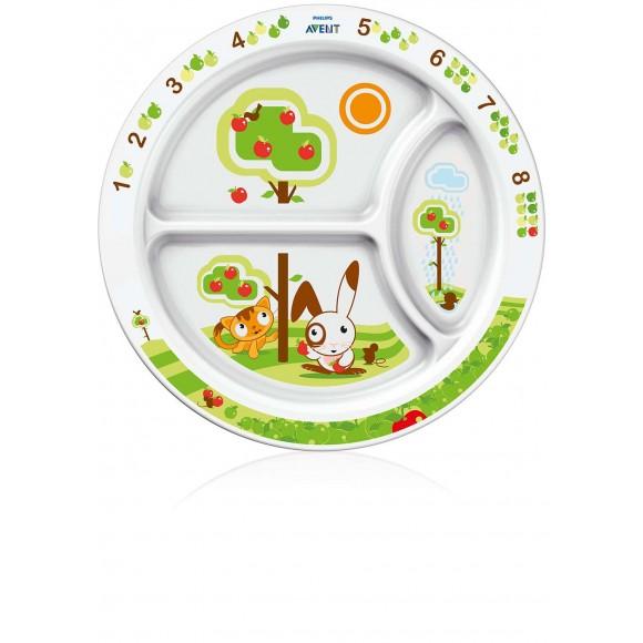 Philips Avent Εκπαιδευτικό Πιάτο Φαγητού 12m+ - SCF702/00