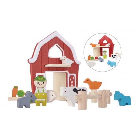Plan Toys Φάρμα Ξύλινη 6618