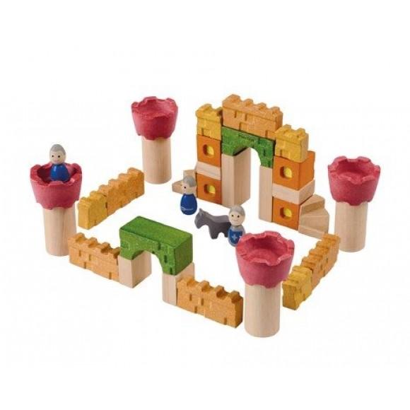 Plan Toys Ξύλινα Τουβλάκια Κάστρο Ιπποτών 5651