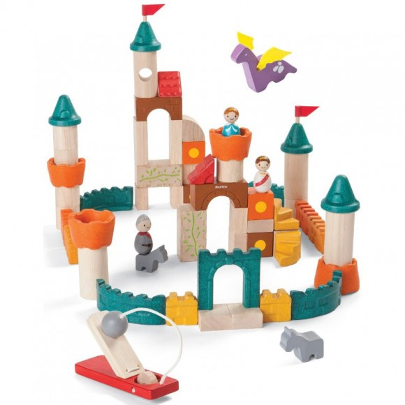Plan Toys Ξύλινα Τουβλάκια Κάστρο Κατασκευές 5696