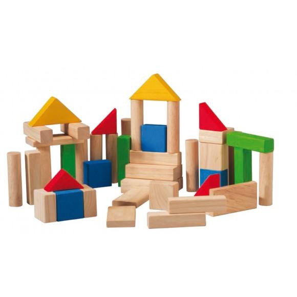 Plan Toys Ξύλινα Τουβλάκια Κατασκευής 50 Κομμάτια 5535