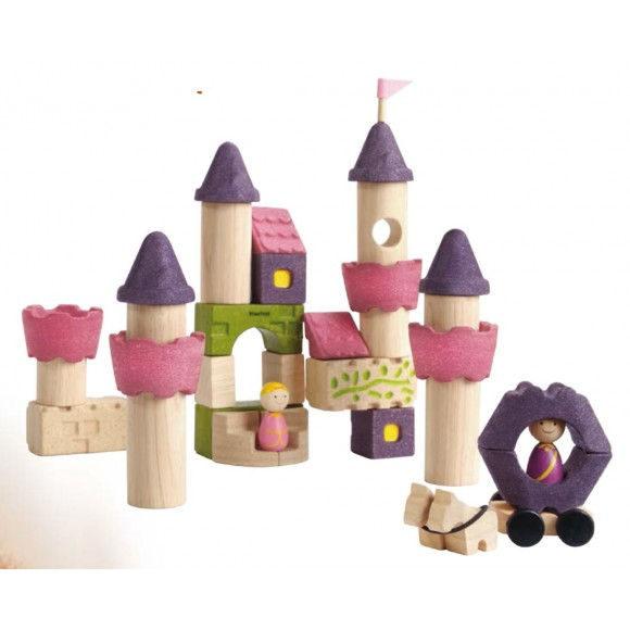 Plan Toys Ξύλινα Τουβλάκια Παραμυθένιο Κάστρο Κατασκευές 5650