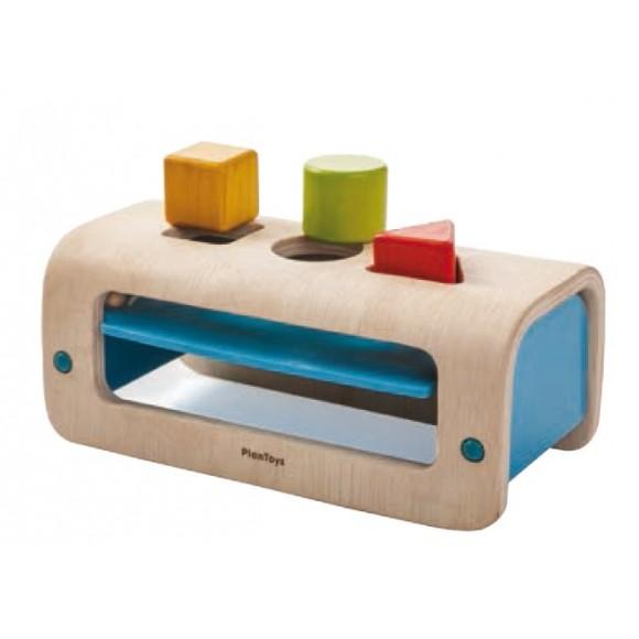Plan Toys Ξύλινη Βάση με Γεωμετρικά Σχήματα 5352