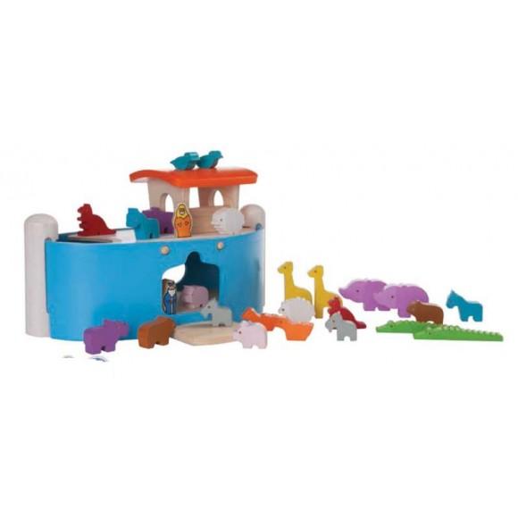 Plan Toys Ξύλινη Κιβωτός του Νώε 6116