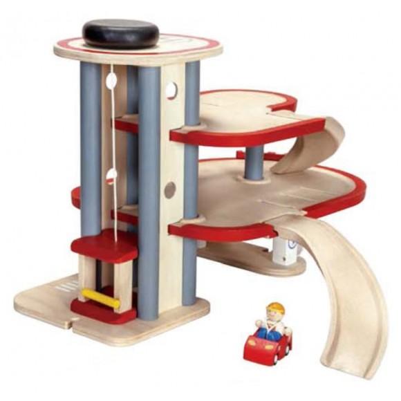 Plan Toys Ξύλινο Γκαράζ 6611