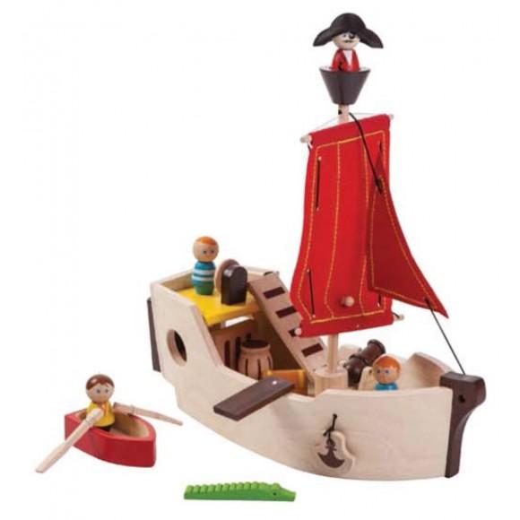 Plan Toys Ξύλινο Καράβι Πειρατών 6105