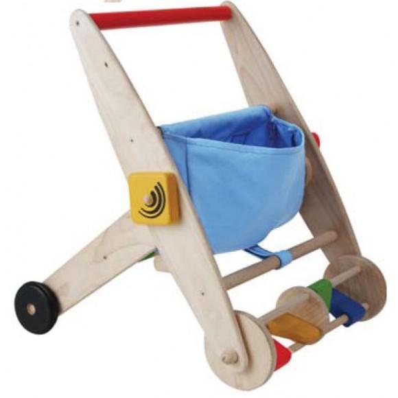 Plan Toys Ξύλινο Καροτσάκι/Περπατούρα Δραστηριοτήτων 5170