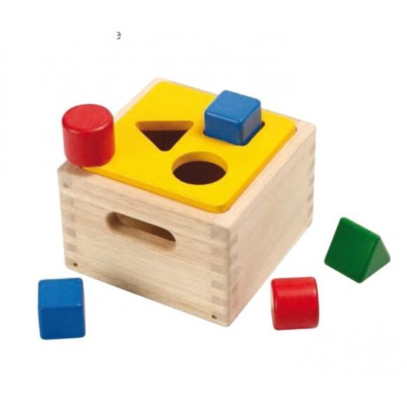 Plan Toys Ξύλινο Κουτί με Γεωμετρικά Σώματα 9430