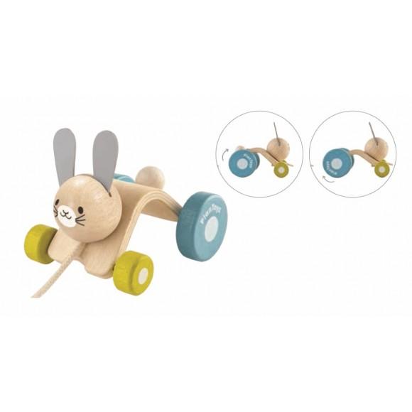 Plan Toys Ξύλινο Λαγουδάκι που Κινείται 5701