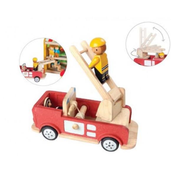 Plan Toys Ξύλινο Όχημα Πυροσβεστική 4609
