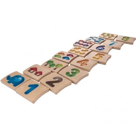 Plan Toys Ξύλινο Παιχνίδι Αριθμοί 1-10 5641