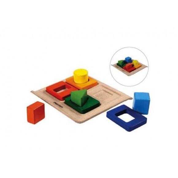 Plan Toys Ξύλινο Παιχνίδι Ταξινόμηση Σχημάτων 5646