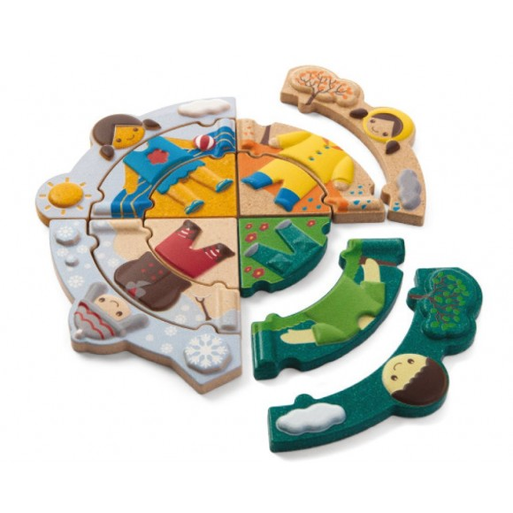 Plan Toys Ξύλινο Πάζλ με Εποχές