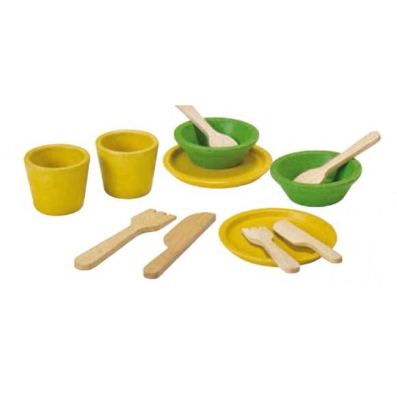 Plan Toys Ξύλινο Σερβίτσιο Φαγητού 3605