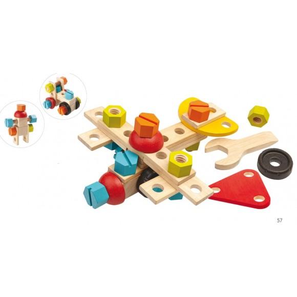 Plan Toys Ξύλινο Σετ Κατασκευών 5539