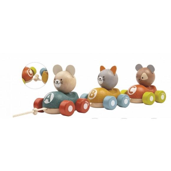 Plan Toys Ξύλινο Τρένο με Ζωάκια 5676