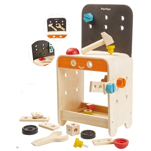 Plan Toys Ξύλινος Πάγκος Εργασίας με Εργαλεία 5541