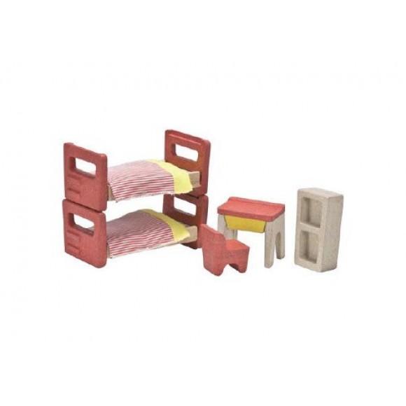 Plan Toys Παιδικό Δωμάτιο για Κουκλόσπιτο 7608