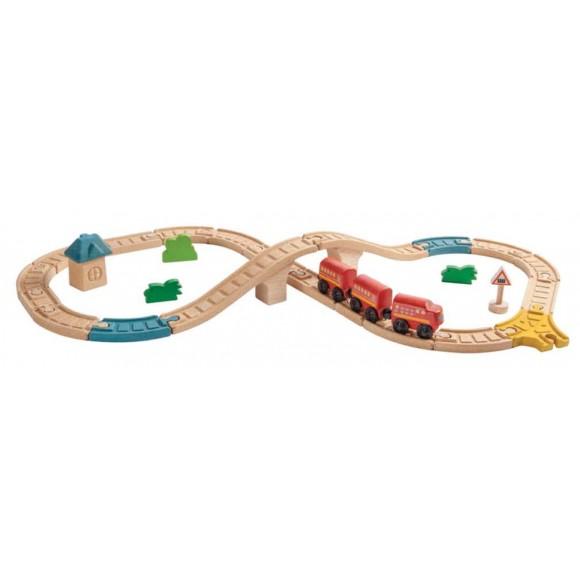 Plan Toys Σιδηροδρομικό Σετ 6605