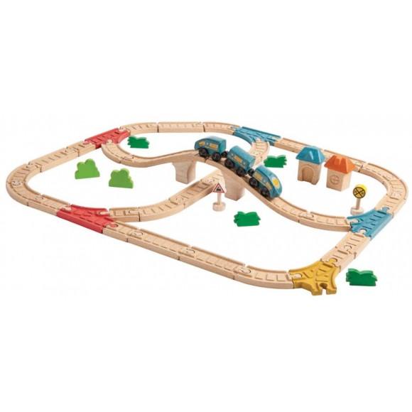 Plan Toys Σιδηροδρομικό Σετ 6606