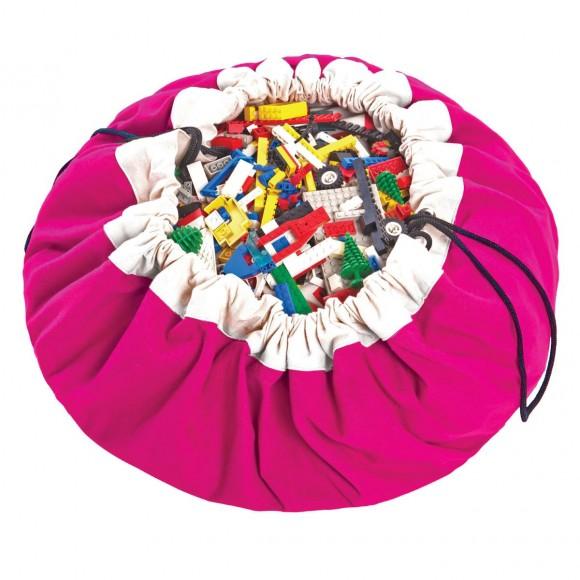 Play&Go Στρώμα Παιχνιδιού και Τσάντα 2 σε 1 Φούξια