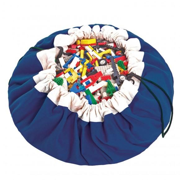 Play&Go Στρώμα Παιχνιδιού και Τσάντα 2 σε 1 Μπλε Cobalt