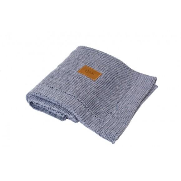 Poofi Πλεκτή Οργανική Κουβέρτα 90x75εκ Dark Grey