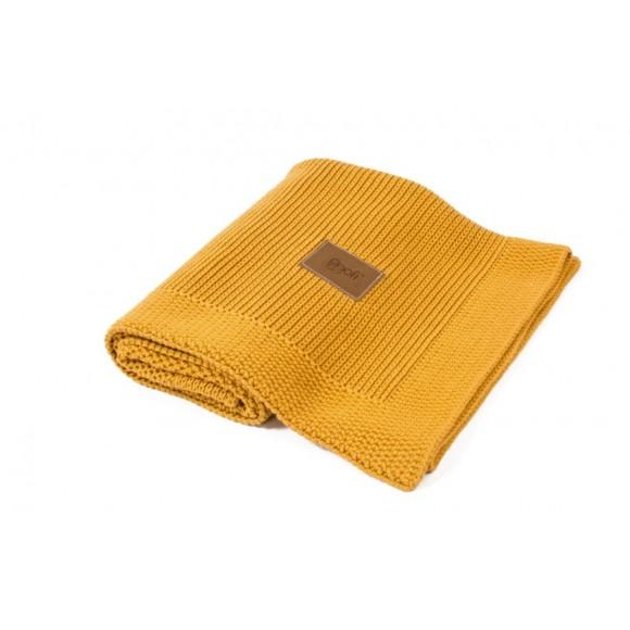 Poofi Πλεκτή Οργανική Κουβέρτα 90x75εκ Honey