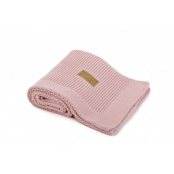 Poofi Πλεκτή Οργανική Κουβέρτα 90x75εκ Pink