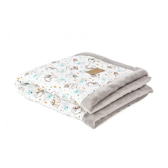 Poofi Βρεφική Κουβέρτα 65x75εκ Bear
