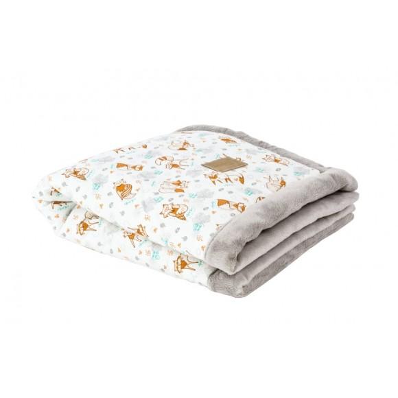 Poofi Βρεφική Κουβέρτα 65x75εκ Fox