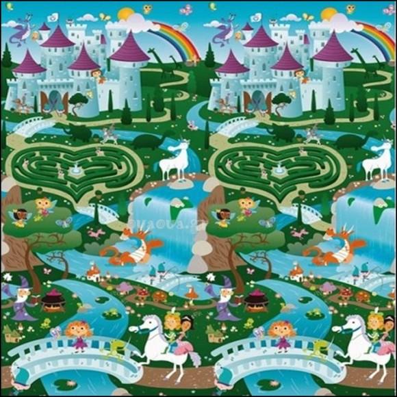 Prince Lionheart Χαλί Παιχνιδιού Διπλής Όψης City/Fantasyland