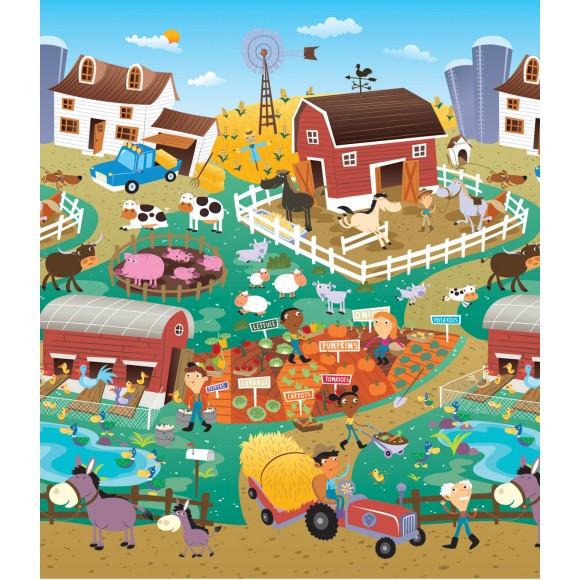 Prince Lionheart Χαλί Παιχνιδιού Διπλής Όψης City/Farm