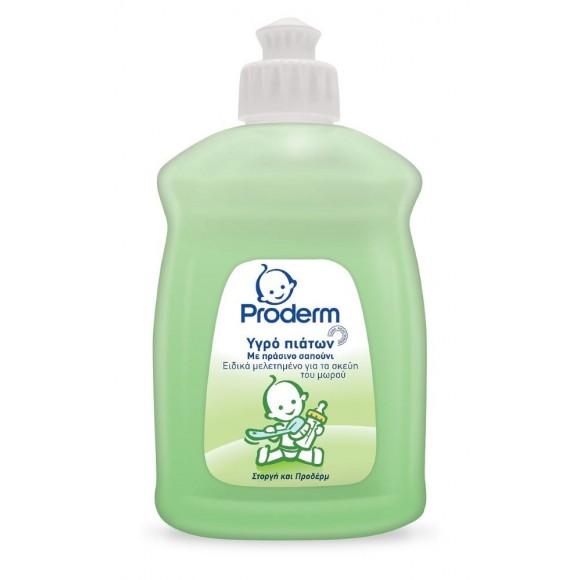 Proderm Υγρό Πιάτων για Μωρά με Πράσινο Σαπούνι 500ml