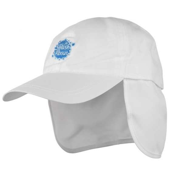 Splash About Καπέλο με Προστασία για το Λαιμό Άσπρο 53-58εκ Medium