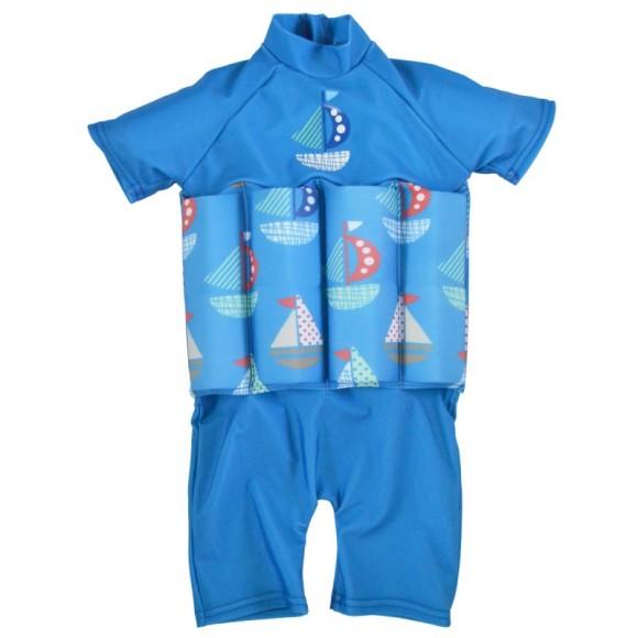 Splash About Μαγιό με Σωσίβιο Ολόσωμο UPF 50+ Μπλε με Καραβάκια 2-4 ετών