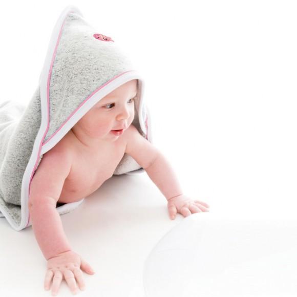 Splash About Πετσέτα με Κουκούλα UPF50+ Ροζ 0-3 μηνών