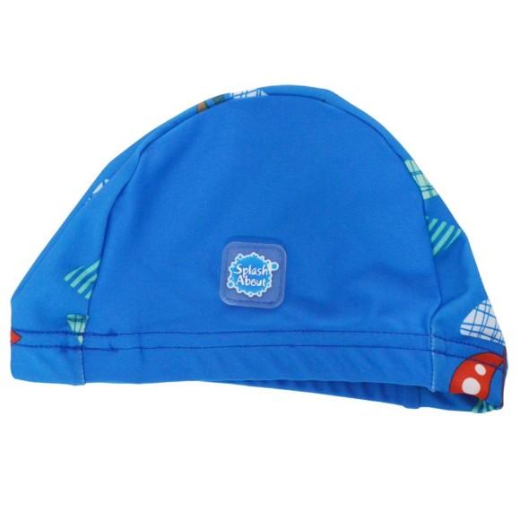 Splash About Σκουφάκι Κολύμβησης SPF50+ Μπλε με Καραβάκια 18-36 μηνών