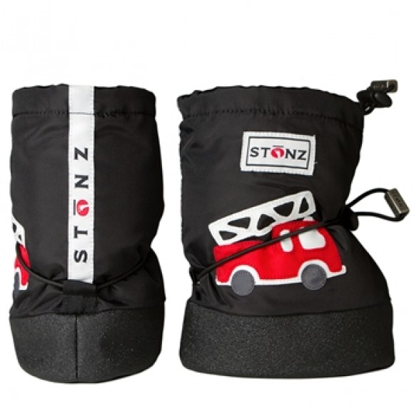Stonz Μαλακά Μποτάκια Booties Fire Truck Black Large