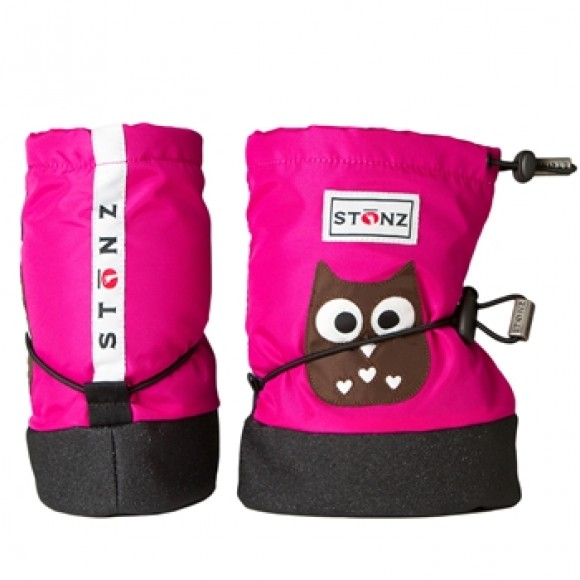Stonz Μαλακά Μποτάκια Booties Owl Fuchsia Medium
