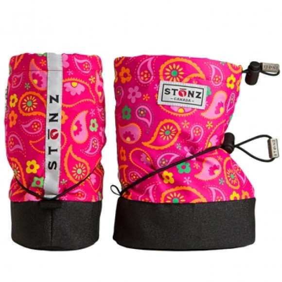 Stonz Μαλακά Μποτάκια Booties Paisley Pink Small