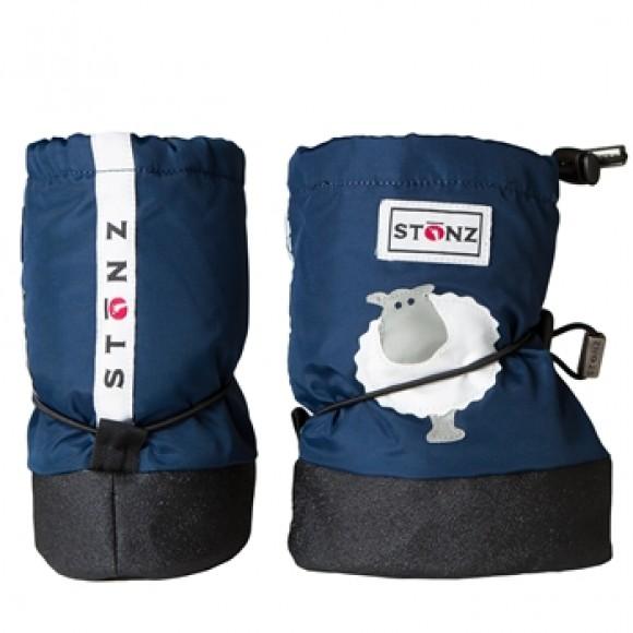 Stonz Μαλακά Μποτάκια Booties Sheep Navy Blue Large