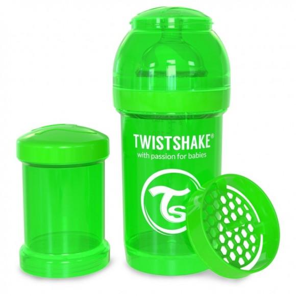 Twistshake Μπιμπερό Κατά των Κολικών 180ml Πράσινο