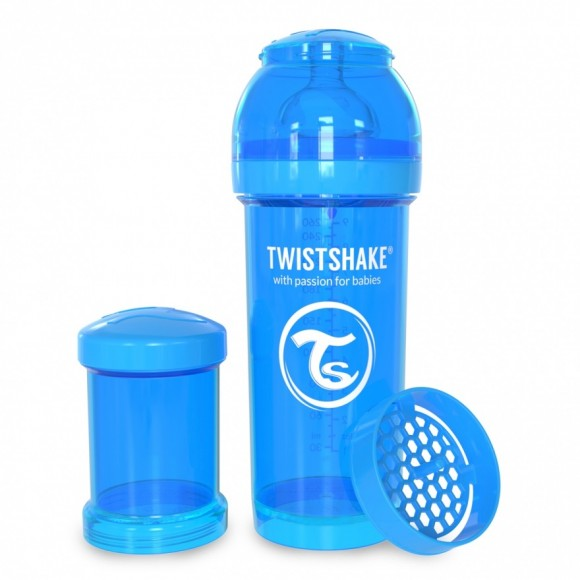 Twistshake Μπιμπερό Κατά των Κολικών 260ml Μπλέ