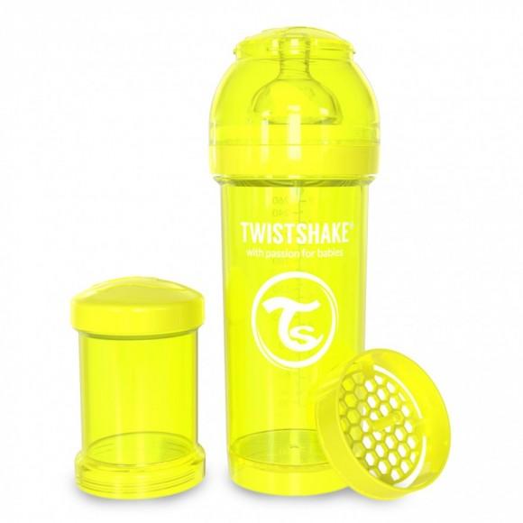Twistshake Μπιμπερό Κατά των Κολικών 260ml Κίτρινο