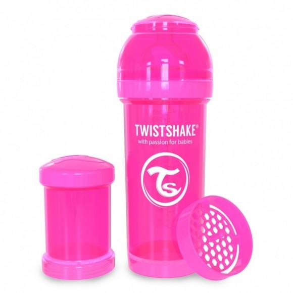 Twistshake Μπιμπερό Κατά των Κολικών 260ml Ροζ