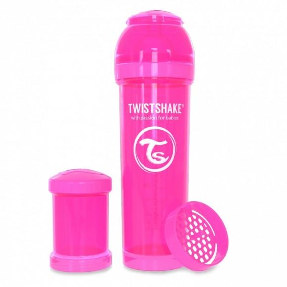 Twistshake Μπιμπερό Κατά των Κολικών 330ml Ροζ