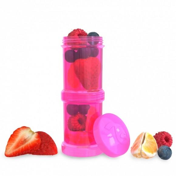Twistshake Δοχείο Αποθήκευσης 2x100ml Ροζ